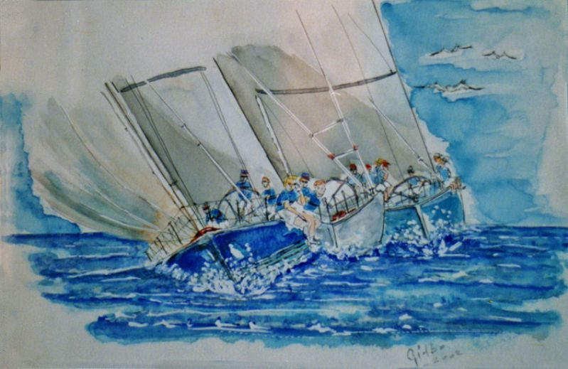 La Regata di Barbierato Guido In Arte Gidbo